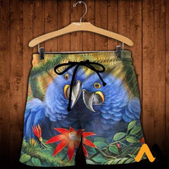 3D All Over Printed Parrot Clothes Shorts / Xs