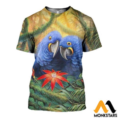 3D All Over Printed Parrot Clothes T-Shirt / Xs