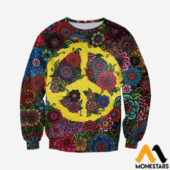 3D All Over Printed Peace Hippies Shirts And Shorts Long-Sleeved Shirt / Xs Clothes