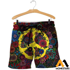 3D All Over Printed Peace Hippies Shirts And Shorts / Xs Clothes