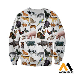 3D All Over Printed Pet Animals Shirts And Shorts Long-Sleeved Shirt / Xs Clothes