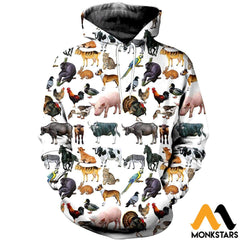3D All Over Printed Pet Animals Shirts And Shorts Normal Hoodie / Xs Clothes