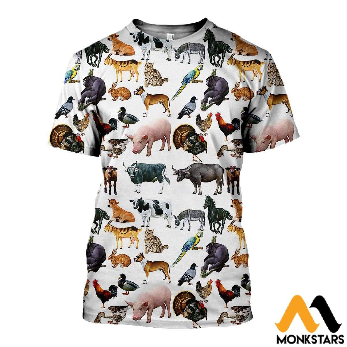3D All Over Printed Pet Animals Shirts And Shorts T-Shirt / Xs Clothes