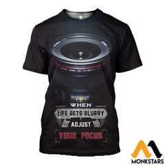 3D All Over Printed Photography And Text Shirts Shorts T-Shirt / Xs Clothes