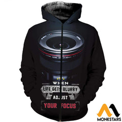 3D All Over Printed Photography And Text Shirts Shorts Zipped Hoodie / Xs Clothes