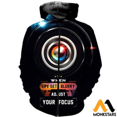 3D All Over Printed Photography Shirts Zipped Hoodie / Xs Clothes