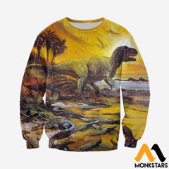 3D All Over Printed Prehistoric Animals Shirts And Shorts Long-Sleeved Shirt / Xs Clothes