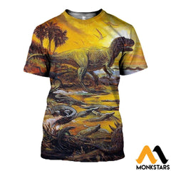 3D All Over Printed Prehistoric Animals Shirts And Shorts T-Shirt / Xs Clothes