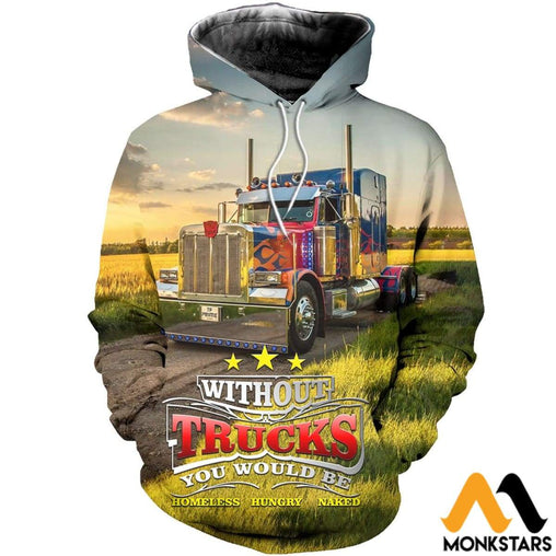 3D All Over Printed Prime Truck Shirts And Shorts Normal Hoodie / Xs Clothes