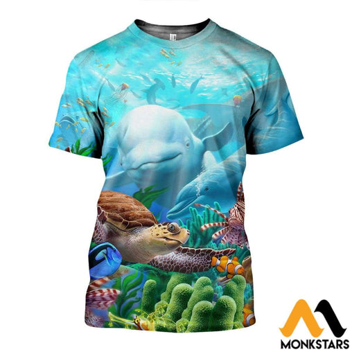 3D All Over Printed Sea Art Shirts And Shorts T-Shirt / Xs Clothes
