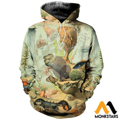 3D All Over Printed Sea Creatures Shirts And Shorts Normal Hoodie / Xs Clothes