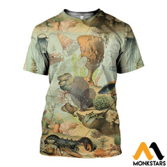 3D All Over Printed Sea Creatures Shirts And Shorts T-Shirt / Xs Clothes