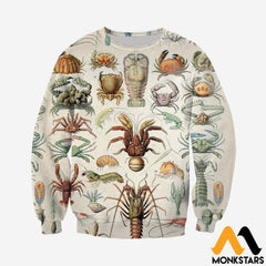 3D All Over Printed Sea Crustaceans Shirts And Shorts Long-Sleeved Shirt / Xs Clothes