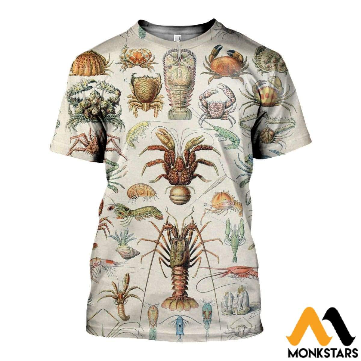 3D All Over Printed Sea Crustaceans Shirts And Shorts T-Shirt / Xs Clothes