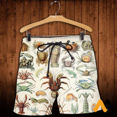 3D All Over Printed Sea Crustaceans Shirts And Shorts / Xs Clothes