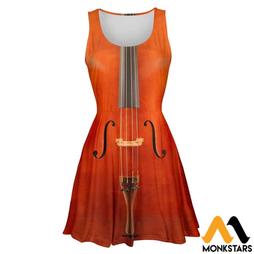 3D All Over Printed Skater Dress - Cello