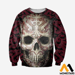 3D All Over Printed Skull Pattern Tops Long-Sleeved Shirt / Xs Clothes
