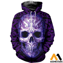 3D All Over Printed Skull Pattern Tops Normal Hoodie / Xs Clothes
