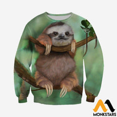 3D All Over Printed Sloth Baby Tops Long-Sleeved Shirt / Xs Clothes