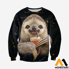 3D All Over Printed Sloth Shirts And Shorts Long-Sleeved Shirt / Xs Clothes