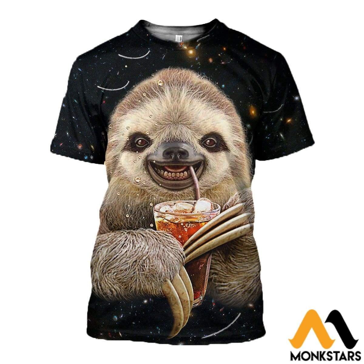 3D All Over Printed Sloth Shirts And Shorts T-Shirt / Xs Clothes