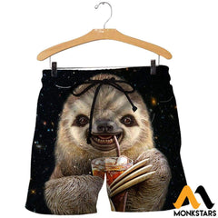 3D All Over Printed Sloth Shirts And Shorts / Xs Clothes