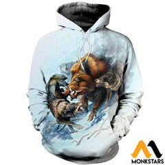 3D All Over Printed Snow Hunting Boar Shirts And Shorts Normal Hoodie / Xs Clothes