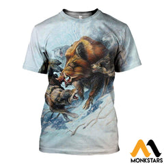 3D All Over Printed Snow Hunting Boar Shirts And Shorts T-Shirt / Xs Clothes