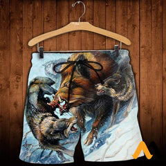 3D All Over Printed Snow Hunting Boar Shirts And Shorts / Xs Clothes