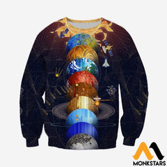 3D All Over Printed Solar System Shirts And Shorts Long-Sleeved Shirt / Xs Clothes