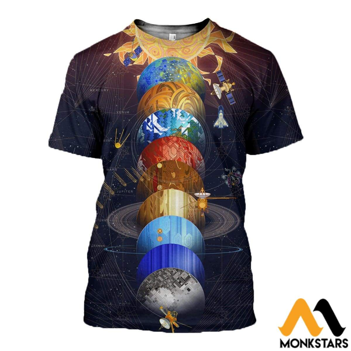 3D All Over Printed Solar System Shirts And Shorts T-Shirt / Xs Clothes