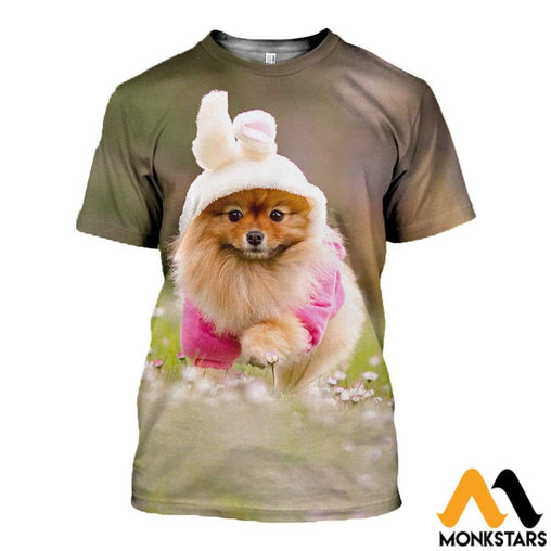 3D All Over Printed Spitz Dog Clothes T-Shirt / Xs