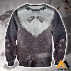 3D All Over Printed Stark Armor Tops Long-Sleeved Shirt / Xs Clothes
