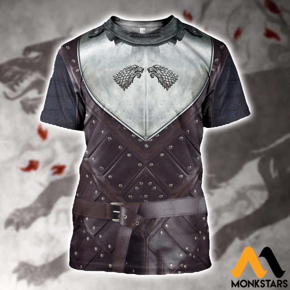 3D All Over Printed Stark Armor Tops T-Shirt / Xs Clothes