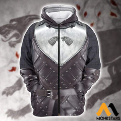 3D All Over Printed Stark Armor Tops Zipped Hoodie / Xs Clothes