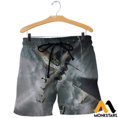 3D All Over Printed Su 30 Clothes Shorts / Xs