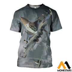 3D All Over Printed Su 30 Clothes T-Shirt / Xs