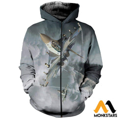 3D All Over Printed Su 30 Clothes Zipped Hoodie / Xs