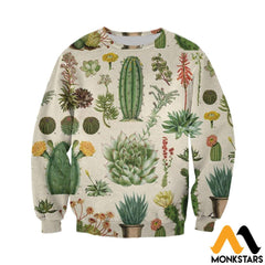 3D All Over Printed Succulent Shirts And Shorts Long-Sleeved Shirt / Xs Clothes