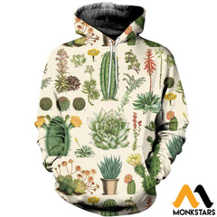 3D All Over Printed Succulent Shirts And Shorts Normal Hoodie / Xs Clothes