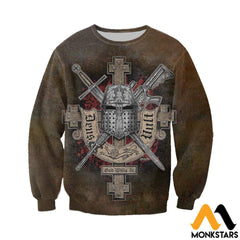 3D All Over Printed Symbol Of The Templar Knights Shirts And Shorts Long-Sleeved Shirt / Xs Clothes