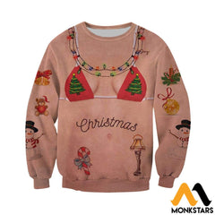 3D All Over Printed Tattoos Girl Christmas Shirts And Shorts Clothes