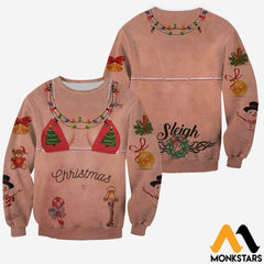 3D All Over Printed Tattoos Girl Christmas Shirts And Shorts Long-Sleeved Shirt / Xs Clothes