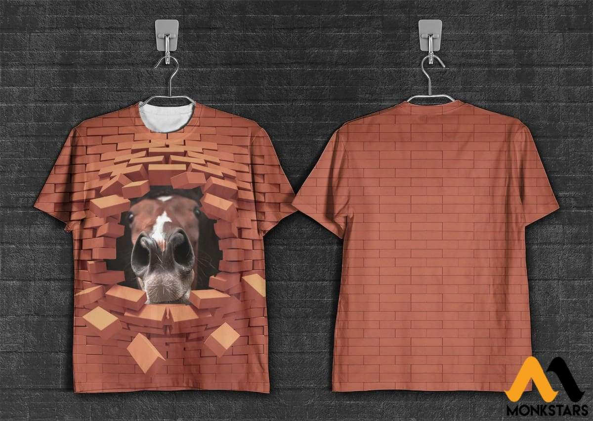 3d Printed Template Wall And Horse T Shirt Hoodie Monkstars Inc