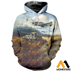 3D All Over Printed Tiger Hunt Shirts And Shorts Normal Hoodie / Xs Clothes