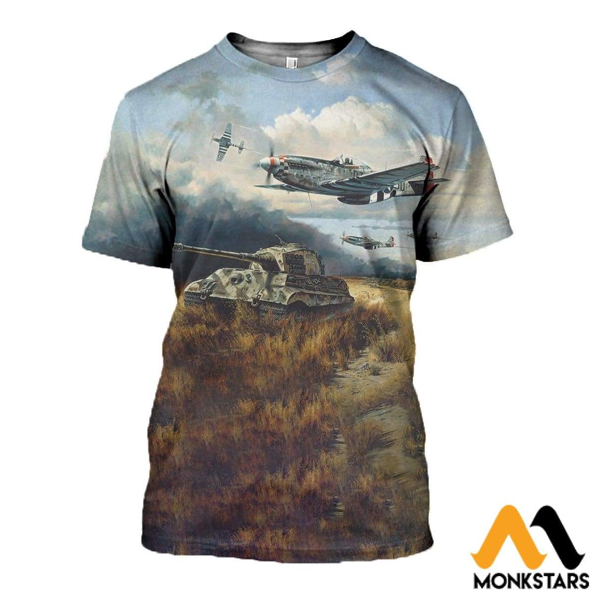 3D All Over Printed Tiger Hunt Shirts And Shorts T-Shirt / Xs Clothes