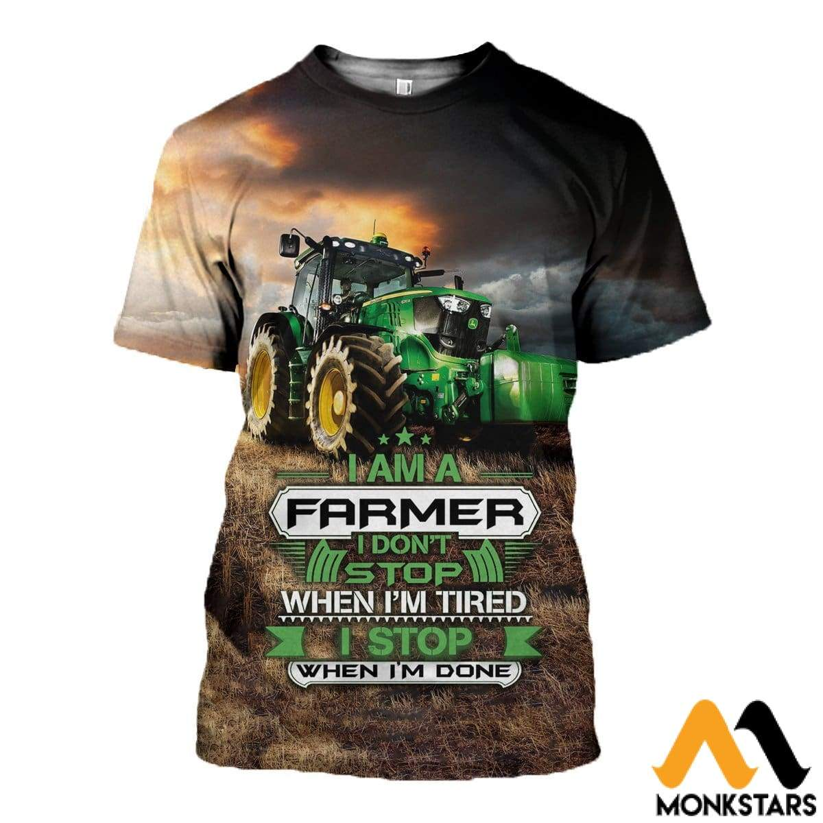 3D All Over Printed Tractor Tops T-Shirt / Xs Clothes