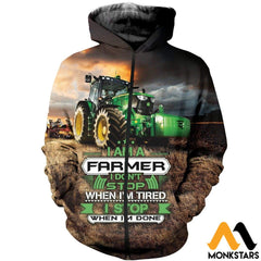 3D All Over Printed Tractor Tops Zipped Hoodie / Xs Clothes