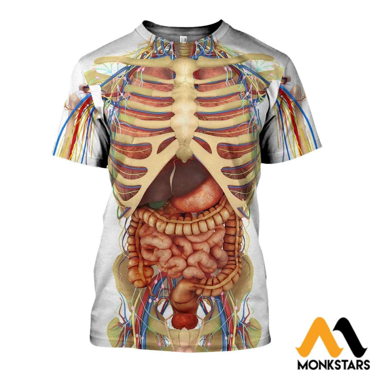 3d All Over Printed Transparent Human Body Organs Shirts And Shorts
