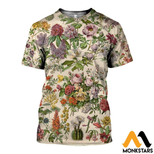 3D All Over Printed Tropical Flowers Shirts And Shorts T-Shirt / Xs Clothes